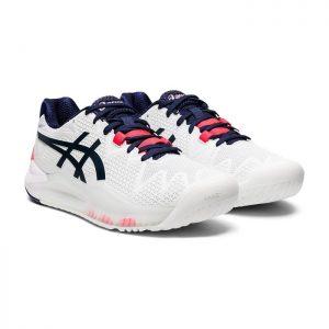کفش تنیس و پدل اسیکس زنانه سفید مدل GEL RESOLUTION 8-کورت-مارکت-02